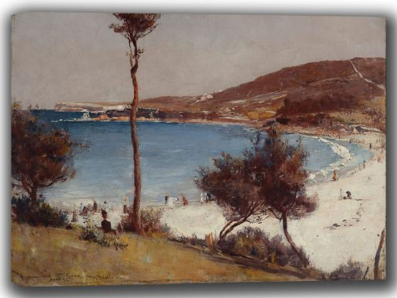 Roberts, Tom: Holiday Sketch at Coogee. Fine Art Canvas. Sizes: A4/A3/A2/A1 (002236)
